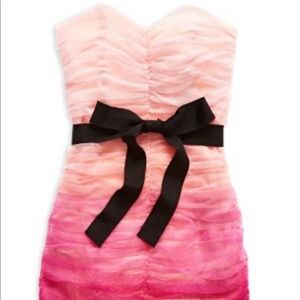 Pearl collection mini pink ombré dress